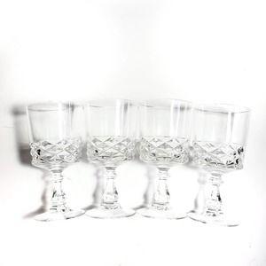 Vintage | D'arques Diamond Crystal Glasses